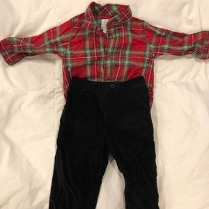 Boys 9months Christmas outfit carters